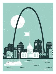 St. Louis print.  I would love someone to gift me with this. :)  Or maybe I'll just splurge.