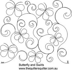 Butterfly and swirls