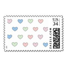Multiple hearts postage stamps designed by ArianeC from iCraftCafé . #heartpattern #computerart