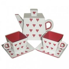 teacup & teapot favor boxes....if only they were real, I would use this for Valentine's Day