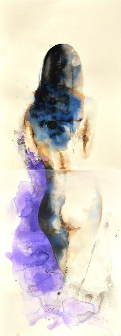Blue violet, Painting by Kristina Broza | Artfinder water colouron paper.  Art Finder on sale 165$