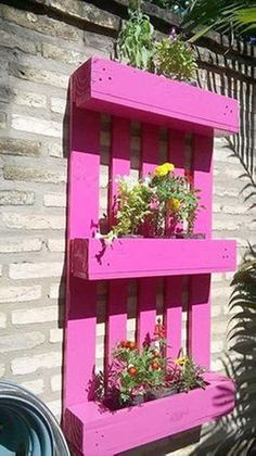 Pallet planter is the modern choice for your garden which looks stunning with lovely plants. Plants are an important part of your garden as it looks charming with the lovely nature. So you can make your own pallet planters which have made quickly and inexpensive. You can enhance the beauty of your lawn with this pallet painted wall planter.