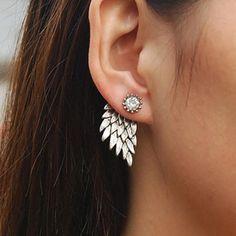 Nueva moda de joyería de plata antigua de color perno prisionero del ala de regalo para las mujeres chica E3310 en Stud Pendientes de Joyas y Accesorios en AliExpress.com | Alibaba Group