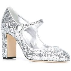 Dolce & Gabbana 'Vally' Mary Jane pumps (44.260 RUB) ❤ liked on Polyvore featuring shoes, pumps, grey leather pumps, grey pumps, grey mary jane pumps, leather mary jane shoes and mary jane shoes