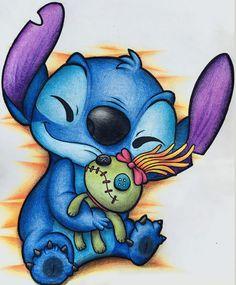 disney art Stitch Wie ein Stbern in ei - art Cute Disney Drawings, Cartoon Drawings, Cartoon Art, Cute Drawings, Drawing Faces, Drawing Disney, Disney Character Drawings, Lilo And Stitch Drawings, Lilo And Stitch Quotes