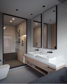 Elegant and Simple Bathroom Storage Ideas in The Next 2019 Innovative bathroom storage ideas for DIY bathroom storage ideas # laundryhomeıdeas the Small Space Bathroom, Simple Bathroom, Modern Bathroom Design, Bathroom Interior Design, Small Spaces, Bathroom Ideas, Shower Bathroom, Bathroom Grey, Bathroom Renovations