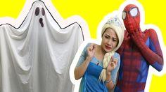Spiderman & Frozen Elsa vs Anna Ghost Pranks! w/Crying Babies Superhero,...