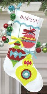1000 Ideas About Felt Christmas Stockings On Pinterest