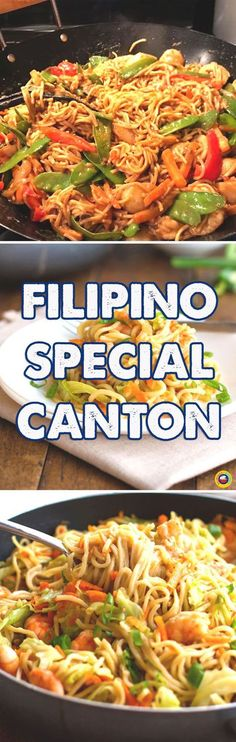 One of the best Recipe in the Philippines and is always served on special occasion. Easy to Follow Pancit Canton Recipe Available. Click Now. Filipino Dishes, Filipino Recipes, Asian Recipes, Ethnic Recipes, Filipino Food, Asian Foods, Filipino Pancit, Pinoy Recipe, Easy Recipes