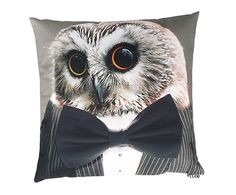 Coussin HIBOU polyester, multicolore - 40*40