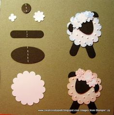 Punch Art sheep. Make into an ornament to go with the Shepherd Bible Story.
