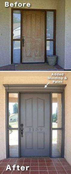 Au lieu de changer de porte, ajouter des moulures tout autour