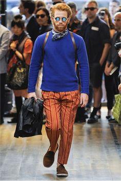 orange stirped pants