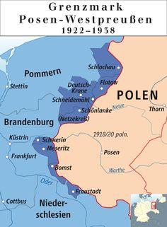 Karte der Provinz Grenzmark Posen-Westpreußen mit Kreisgrenzen (1938)