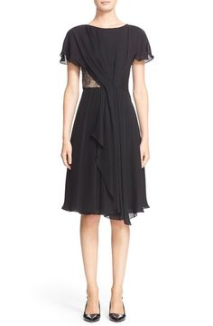 Jason Wu Lace Inset Silk Georgette Dress available at #Nordstrom