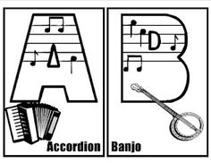 FREE Musical Alphabet, and info about Musical clip art and Musical fonts