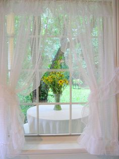 French Country Decor Window Treatment Curtains by mailordervintage, $16.10