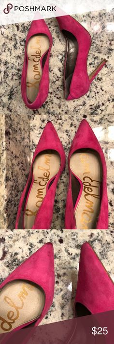 Sam Edelman Hot Pink Pumps Sam Edelman Suede Hot Pink Pumps. Worn condition. Please see all pictures. Suede needs to be cleaned. Sam Edelman Shoes Heels