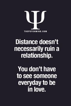 About distance in relationships