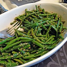This side dish takes green beans from simple to scrumptious with flavorful ingredients like garlic, soy sauce, and toasted sesame oil.