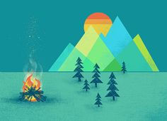 The Bonfire Print by automatte on Etsy, $15.00