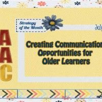 Creating Communication Opportunities for the 'Older' Learner