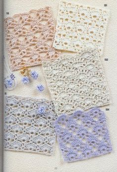 Could make a scarf with a longer version of these. Free Patterns