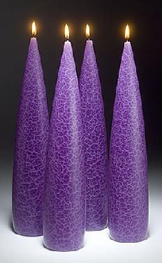 purple candles | Advent Candles from Barrick Design