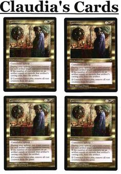 4 Recycle = Green Tempest Mtg Magic Rare 4x x4