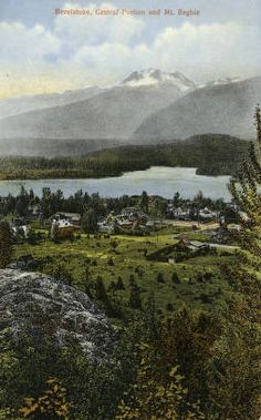 Revelstoke, Central Portion and Mt. History Facts, British Columbia, Postcards, Mountains, Nature, Travel, Collection, Naturaleza, Viajes
