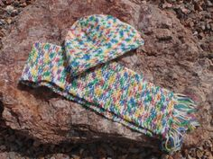 Unisex knit hat and scarf by susansworld on Etsy