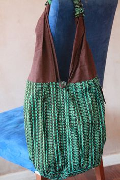 Button Fasten African Print Bag  Fabric Bag by lanyeroafrochic, $24.15