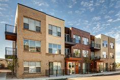 Row-house style apartments in DTC.