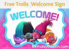 Free Printable Trolls Welcome Sign Trolls Birthday Party, Troll Party, 4th Birthday, Birthday Party Decorations, Birthday Parties, Birthday Board, Birthday Ideas, Party Printables, Free Printables