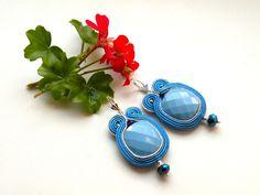 Chandeliers - All in Blue - soutache+Geschenkbox - ein Designerstück von Bajobongo bei DaWanda