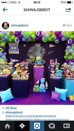 Inspiracao Festa Monsters Inc