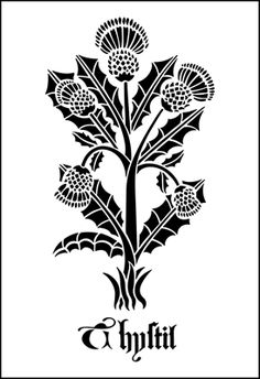 Thistle stencil from The Stencil Library GOTHIC, MEDIEVAL AND TUDOR range. Buy stencils online. Stencil code GMT82.