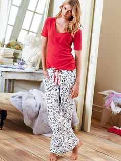 Cute PJ's make the perfect presents. | Victoria's Secret The Mayfair Tee-jama