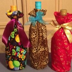 Fabric wine bottle covers!
