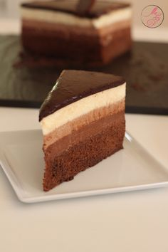 Entremets trois chocolats No Sugar Foods, Vegan, Gelato, Sweet Treats, Cupcakes, Recipes, Biscuits, Party, Cake