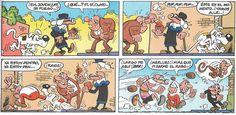 """Francisco Ibáñez: Para burlar a """"El Vaca""""  publicado originalmente el 18 de Noviembre de 1969. Super Humor nº 23 1º edición 1995.  6º 2004. Siempre que he encontrado esta historieta, nunca ha aparecido la segunda plana."""