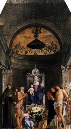 Accademia - Pala di San Giobbe by Giovanni Bellini - List of Renaissance artists - Simple English Wikipedia, the free encyclopedia Madonna, Giovanni, Italian Paintings, Web Gallery Of Art, Art, Italian Painters, Giovanni Bellini, Art History, Venetian Painters