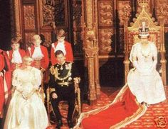 November 6, 1984: Prince Charles and Princess Diana at the State Opening of Parliament, Westminster.