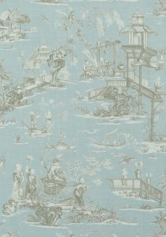 CHENG TOILE, Robin's Egg, T75468, Collection Dynasty from Thibaut