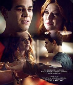 """""""A Problem of Memory"""" - Simon and Clary Simon And Clary, Shadowhunters The Mortal Instruments, Malec, Me Tv, Shadow Hunters, Cassandra Clare, Best Friends, Tv Shows, It Cast"""