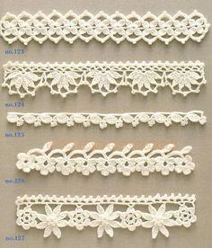 Crochet Edging And Borders - Trendy lace edging crochet patterns free vintage fan crochet edging - a free pattern Crochet Edging Patterns, Crochet Lace Edging, Crochet Borders, Crochet Chart, Lace Patterns, Crochet Trim, Crochet Flowers, Crochet Edgings, Crocheted Lace