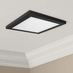 Platter 13 Square Black Led Outdoor Ceiling Light 61x62 Lamps Plus In 2021 Outdoor Ceiling Lights Ceiling Lights Outdoor Light Fixtures