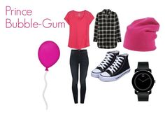 """Prince Bubble-Gum"" by cutie-styles ❤ liked on Polyvore featuring Kuhl, Madewell, Mother, Warm-Me, Movado, Ogard Neon, Pink, adventuretime and PrinceBubbleGum"