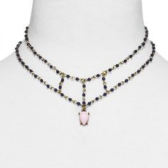 - SUGARFIX by BaubleBar Beaded Cage Pendant Necklace, $15.
