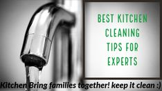 Best kitchen cleaning tips to clean your kitchen,utensils,appliances and everything in kitchen easily.clean cookware,kitchen gadgets with these methods Kitchen Cleaning, Cleaning Hacks, Kitchen Utensils, Kitchen Gadgets, Stainless Steel Utensils, Wooden Spoons, Cool Kitchens, Keep It Cleaner, It Cast